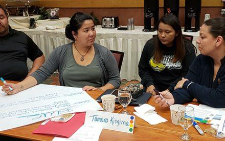Tribes Lead participants discussing program plans.